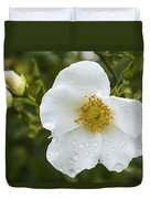 Cherokee Rose With Rain Drops Duvet Cover