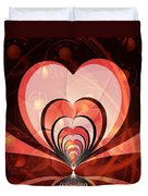 Cherries And Hearts Duvet Cover