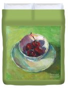 Cherries In A Cup #2 Duvet Cover