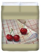 Cherry Talk By Irina Sztukowski Duvet Cover