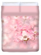 Pink Dogwood Blossoms Duvet Cover