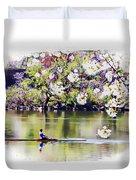 Cherry Blossom Rower Duvet Cover
