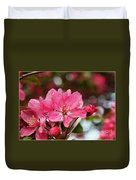 Cherry Blossoms And Greeting Card Blank Duvet Cover