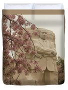 Cherry Blossoms At The Martin Luther King Jr Memorial Duvet Cover
