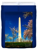 Cherry Blossoms At The Monument Duvet Cover