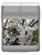 Cherry Blossoms Branching Out Duvet Cover
