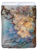 Cherry Blossoms N Lace Duvet Cover