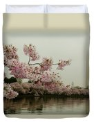 Cherry Blossoms On A Foggy Morning Duvet Cover