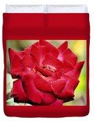 Cherry Cream Rose Duvet Cover
