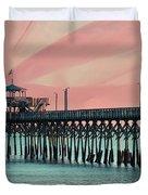Cherry Grove Fishing Pier Duvet Cover