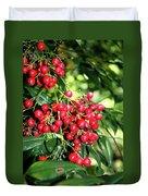 Cherry Laurel  Duvet Cover