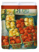 Cherry Tomatoes Duvet Cover by Jen Norton