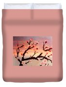 Cherry Tree Expresssive Brushstrokes Duvet Cover