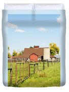 Cherryvale Barn Boulder Duvet Cover