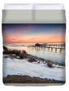 Chesapeake Bay Freeze Duvet Cover