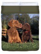 Chesapeake Bay Retrievers Duvet Cover