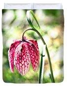 chess-flower in the gardens of Enkoping spring 2012 Duvet Cover