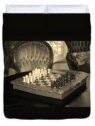 Chess Game Duvet Cover