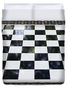 Chess In The Park Duvet Cover