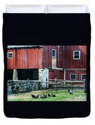 Chester County Chickens Duvet Cover