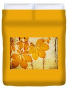 Chestnut Leaves At Autumn Duvet Cover