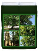 Chestnut Trees At Christchurch Duvet Cover
