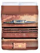 Chevrolet Apache 31 Pickup Truck Grille Emblem Duvet Cover