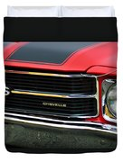 Chevrolet Chevelle Ss Grille Emblem Duvet Cover