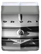 Chevrolet Corvair Emblem -0082bw Duvet Cover