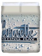 1966 Chevrolet Corvette Sting Ray Emblem -0052c Duvet Cover