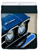 Chevrolet El Camino Hood Emblem - Head Lights Duvet Cover