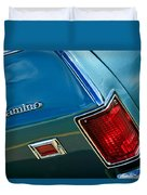 Chevrolet El Camino Taillight Emblem Duvet Cover