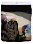 Chevrolet Grille Emblem - Head Light Duvet Cover