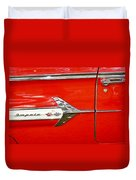 Chevrolet Impala Classic In Red Duvet Cover