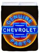 Chevrolet Neon Sign Duvet Cover