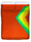 Chevron Rainbow Orange C2014 Duvet Cover