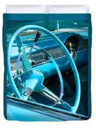 Chevy Bel Air Interior  Duvet Cover