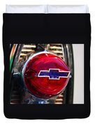 Chevy Red White And Blue Duvet Cover