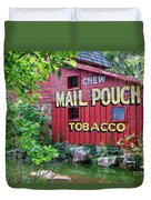 Chew Mail Pouch Tobacco  Duvet Cover
