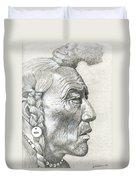 Cheyenne Medicine Man Duvet Cover