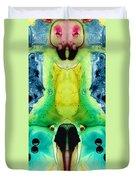 Chi Ant - Aka Mr Happy Bug By Sharon Cummings Duvet Cover
