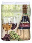 Chianti And Friends Duvet Cover by Debbie DeWitt