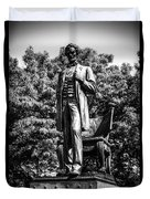 Chicago Abraham Lincoln Statue In Black And White Duvet Cover by Paul Velgos