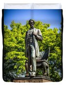 Chicago Abraham Lincoln The Man Standing Statue  Duvet Cover