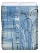 Chicago Abstract Before And After Blue Glass 2 Panel Duvet Cover