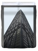 Chicago Abstract Before And After John Hancock Sw Facades Triptych 3 Panel Duvet Cover