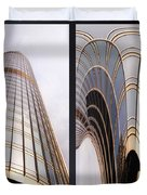 Chicago Abstract Before And After Sunrays On Trump Tower 2 Panel Duvet Cover