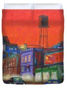 Chicago Avenue Looking West Duvet Cover
