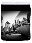 Chicago Bean Cloud Gate In Black And White Duvet Cover by Paul Velgos