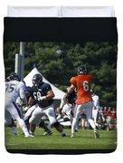 Chicago Bears G Matt Slauson Training Camp 2014 02 Duvet Cover